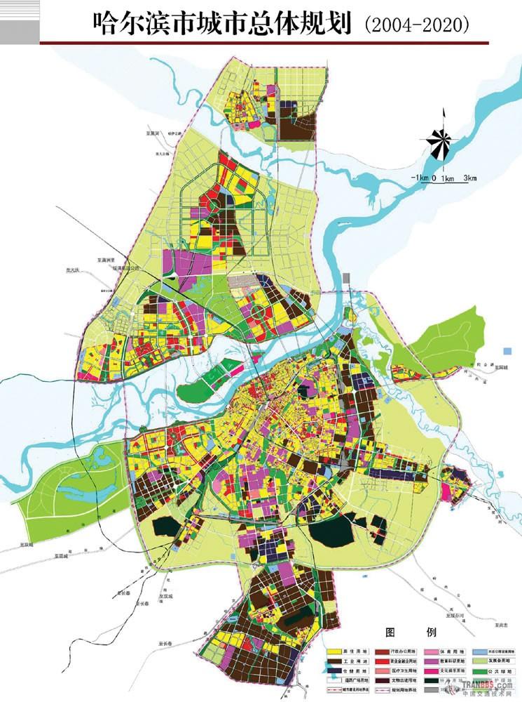 哈尔滨松北区规划图包括在哈尔滨城市总体规划里吗