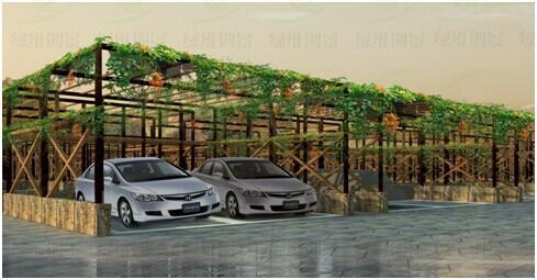 小型客车停车场图片