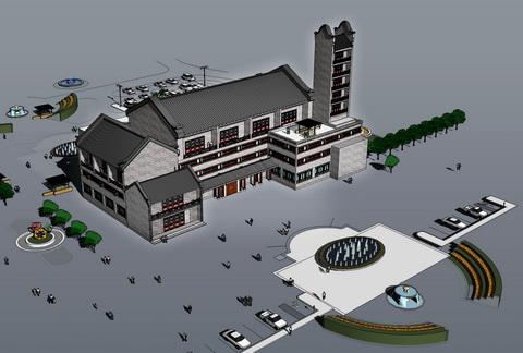 游客服务中心鸟瞰图