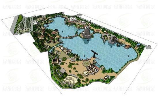 茵梦湖主题公园鸟瞰图