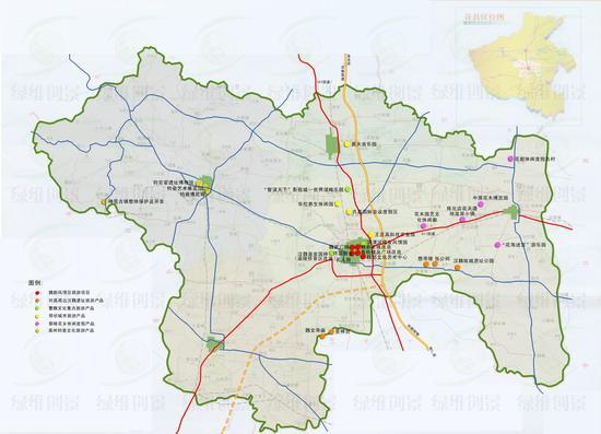 许昌市旅游项目分布图