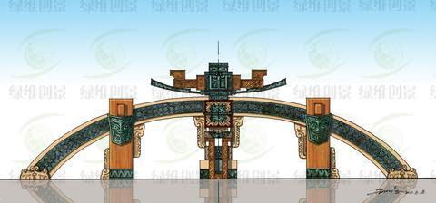 大门方案设计图