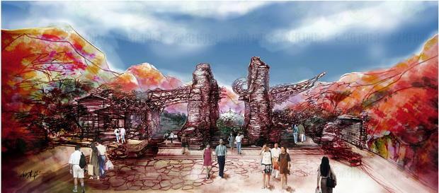 山西阳泉翠枫山自然风景区——生态大门