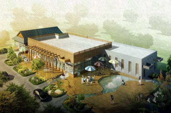 我院的设计的蓝调庄园 四季果庄 我院规划设计的蓝调庄园高清图片