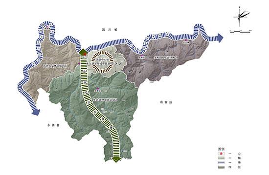 绥江县空间结构图