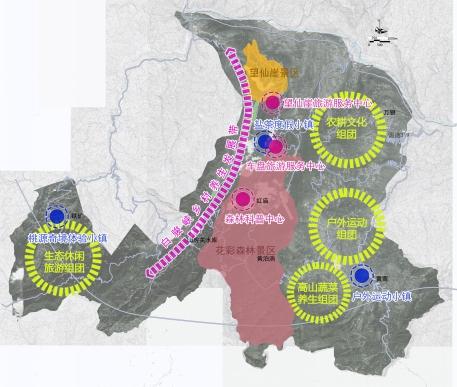 白马山度假区空间结构图