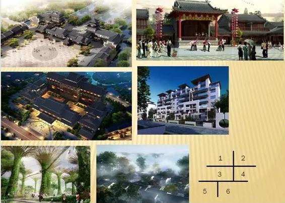 项目设计节选(1:古城广场;2.牡丹剧院;3.行宫大酒店;4.<a href=http://v.lwcj.com/topic/wqzt/ target=_blank class=infotextkey>温泉</a>花园;5.梨园社区)