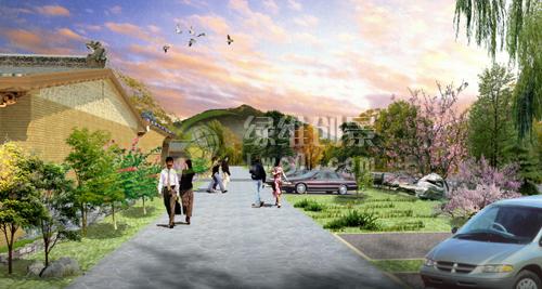 图:村庄步行空间环境景观设计效果图