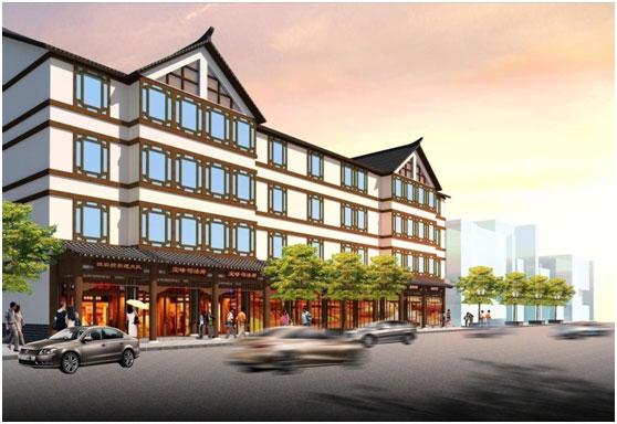 沿街外立面效果图-江西宝峰镇 投资超1亿,江西第一美镇新鲜出炉