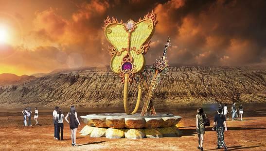 新疆吐鲁番火焰山景区