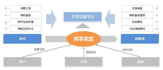 共享农庄发展结构