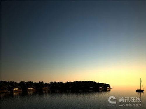 马尔代夫未来海上浮岛设计