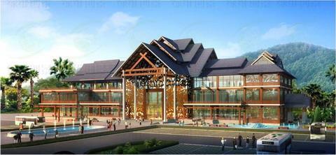 傣族三层别墅设计