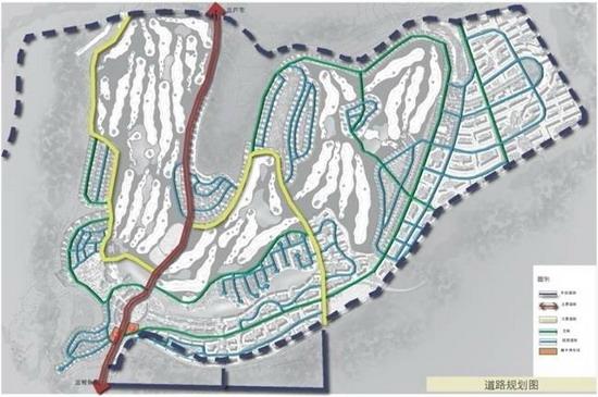 道路规划图-思拉堡温泉小镇之规划篇 盘龙聚气 腾龙前迈