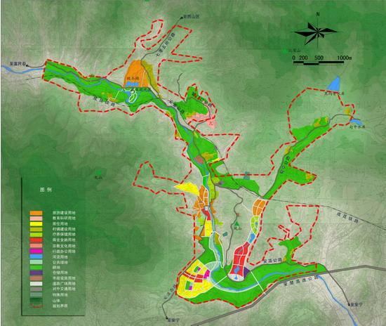 小城镇建设规划图; 以温泉带动旅游小城镇建设的经典——安宁温泉