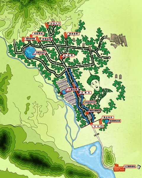 景区总平面图
