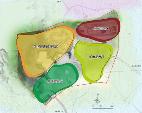 上海庙旅游景区功能分区规划图