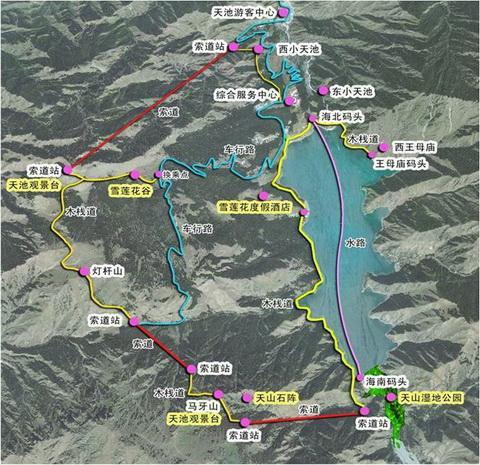 景观设计  在新疆天山天池景区设计的案例
