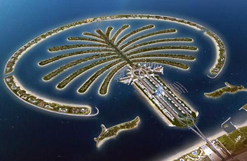 朱美拉棕榈岛鸟瞰实景图